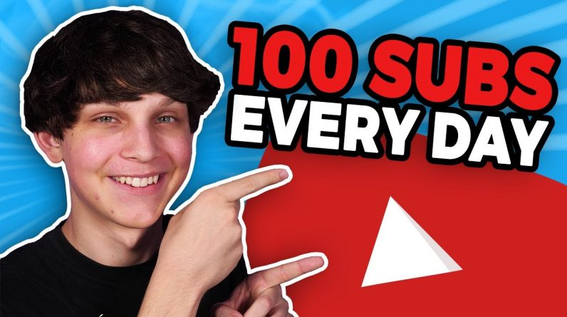 How to Get 100 Subscribers Every Day on YouTube 📈 (Get Subscribers on YouTube Fast)